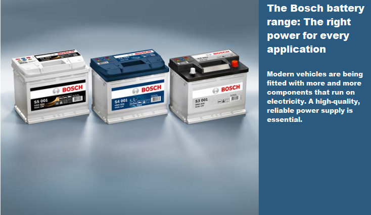 BOSCH Batteries Now Available for Cars, LCV's, Vans & Trucks